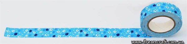 Скотч текстильный голубой