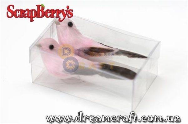 Декоративные украшения Птички Розовые 2 шт/уп SCB26002003