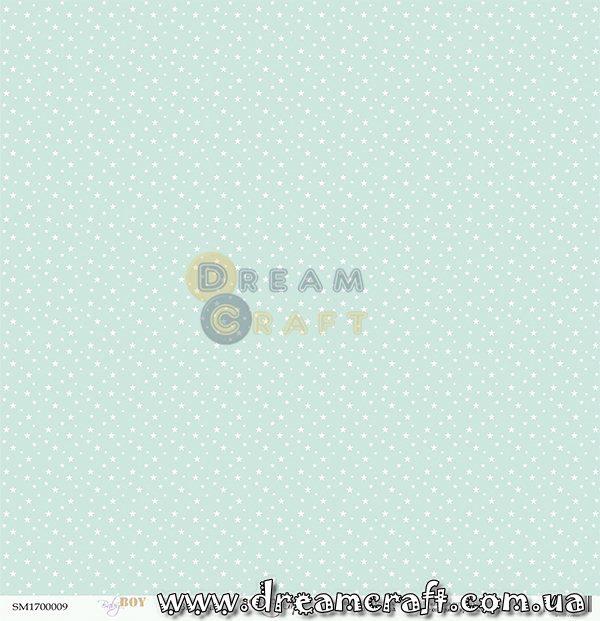 Лист односторонней бумаги 30x30 от Scrapmir Звёздочка Baby Boy 1 шт SM1700009