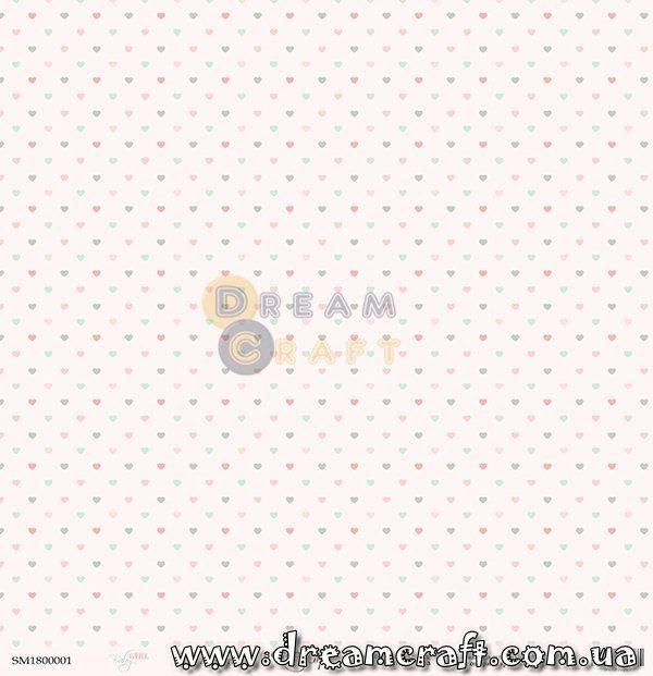 Лист односторонней бумаги 30x30 от Scrapmir Ассорти Baby Girl 10шт SM1800001