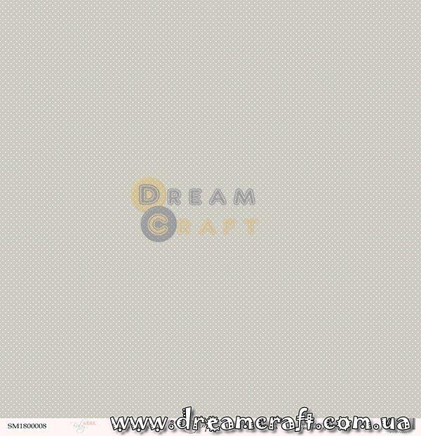 Лист односторонней бумаги 30x30 от Scrapmir Горошек Baby Girl 1 шт SM1800008