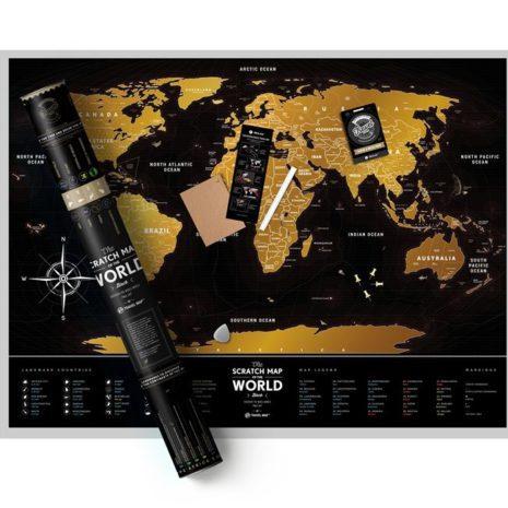 1dea Travel Map Black World 004