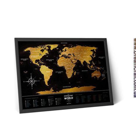 1dea Travel Map Black World 005