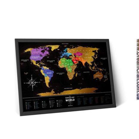 1dea Travel Map Black World 006