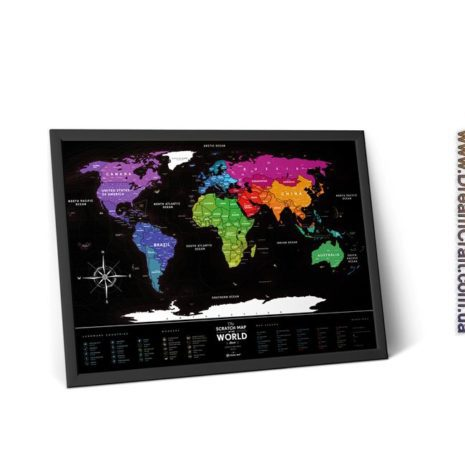 1dea Travel Map Black World 007