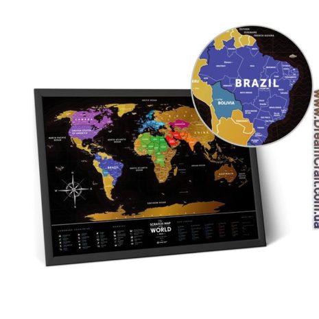 1dea Travel Map Black World 009