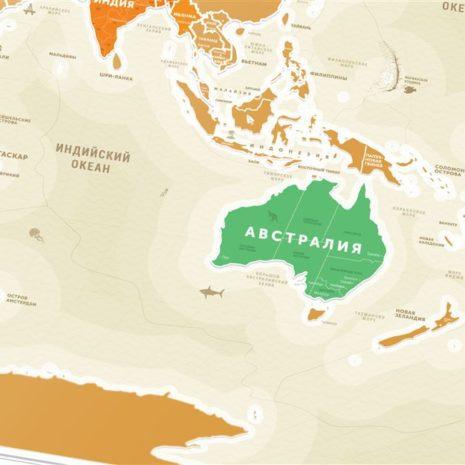 1dea Travel Map Gold World рус 003