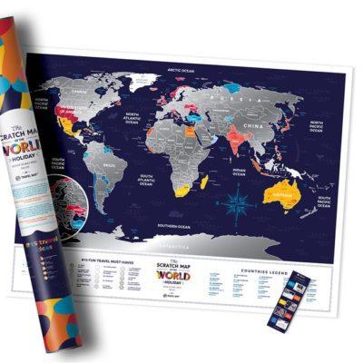 Скретч карта мира «Travel Map Holiday World» (англ) (тубус)