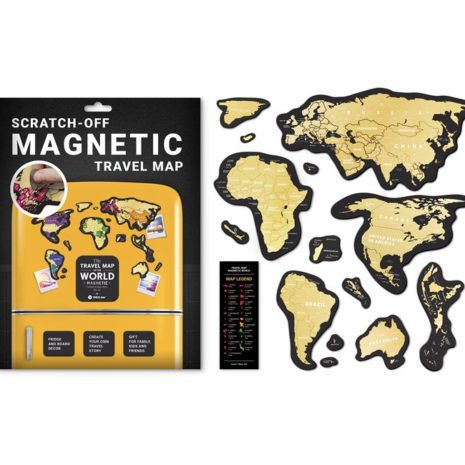 1dea Travel Map MAGNETIC World 001