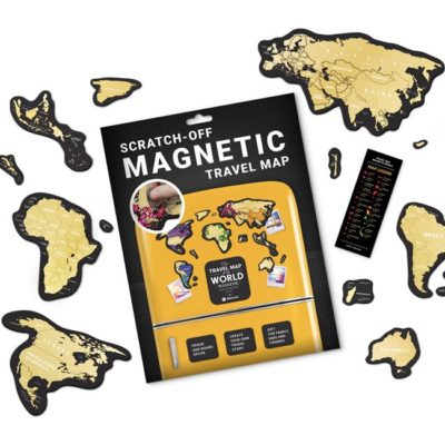 Магнитная скретч карта мира Travel Map MAGNETIC World (англ) (коробка)