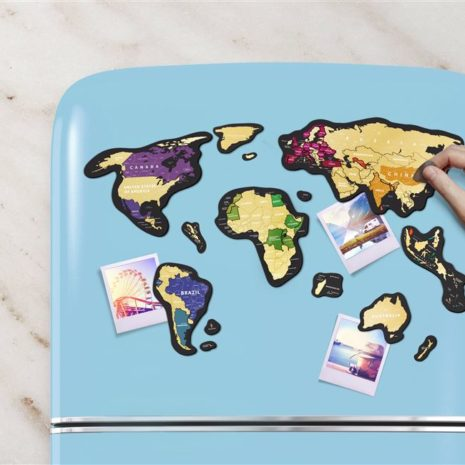 1dea Travel Map MAGNETIC World 004