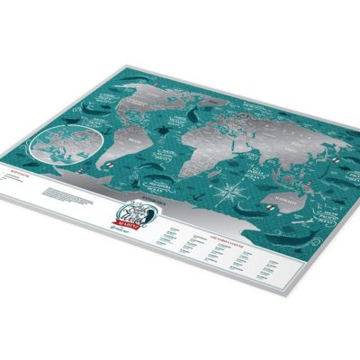 Скретч карта Мира «Travel Map Marine World» (англ) (тубус)