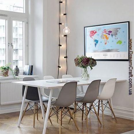 1dea Travel Map Silver World 001