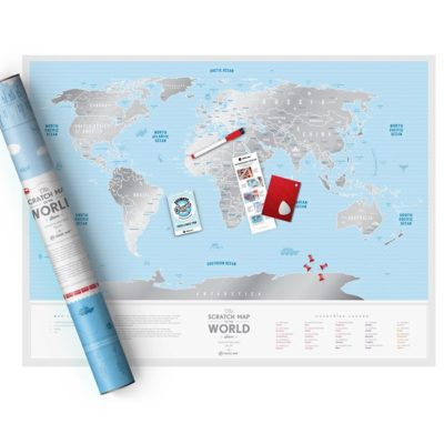 Скретч карта мира «Travel Map Silver World» (англ) (тубус)