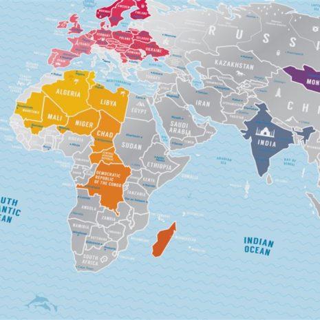 1dea Travel Map Silver World 008