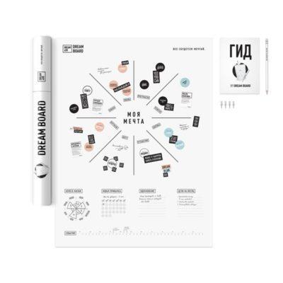 Интерактивный постер «Карта желаний Dream&Do» (рос) (тубус)