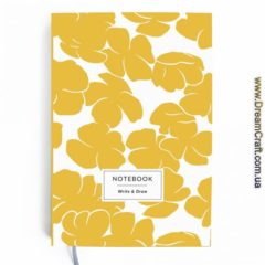 Блокнот Write&Draw Yellow flowers 16х9,5 см