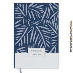 Блокнот Write&Draw Blue Leaves 19х13 см