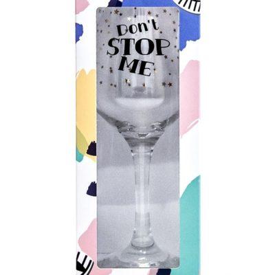 Бокал «Dont stop me» вино 0,38