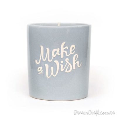 Свічка сіра «Make a wish Grey»