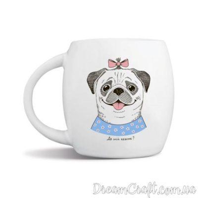 Чашка «Леди мопс»