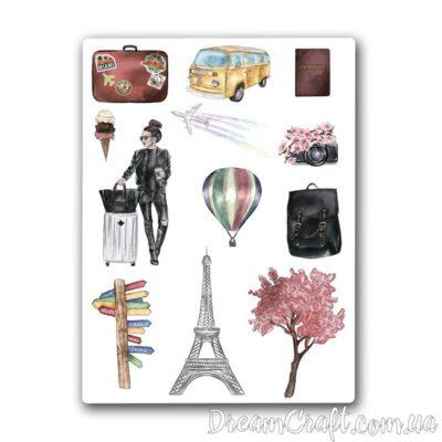 """Лист наклеек """"Paris Travel"""" A6"""