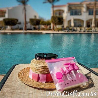 Набор флаконов для путешествий «ESSE» Pink