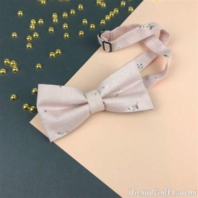 Галстук-бабочка двойная, Розово-лавандовый Цветы