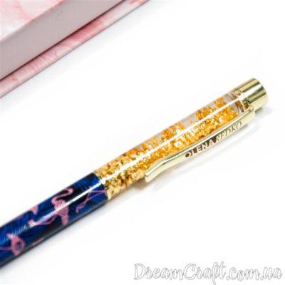 Ручка кулькова з блискітками «Tropical»