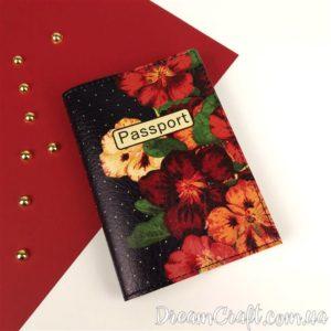 Обложка на паспорт «Flowers» DC-068
