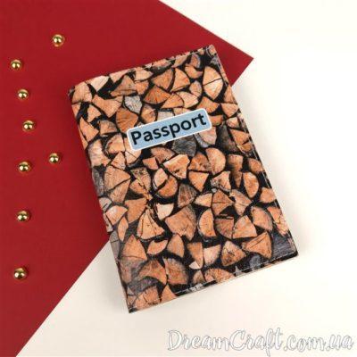 Обложка на паспорт «Wood» DC-044
