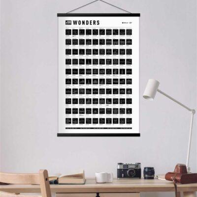 Скретч постер «#100 BucketList Wonders» (рос) (тубус)