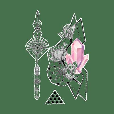 Временное тату Розовый диамант