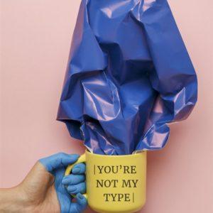 Чашка желтая «You're not my type»