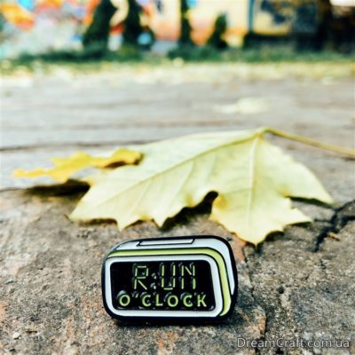 Значок Pin&Joy Будильник Run O'clock