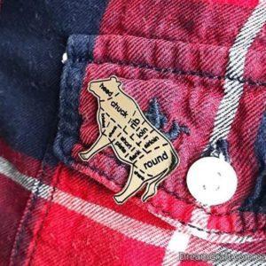 Значок Pin&Joy Корова стейк метал