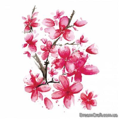 Временное тату Розовая сакура