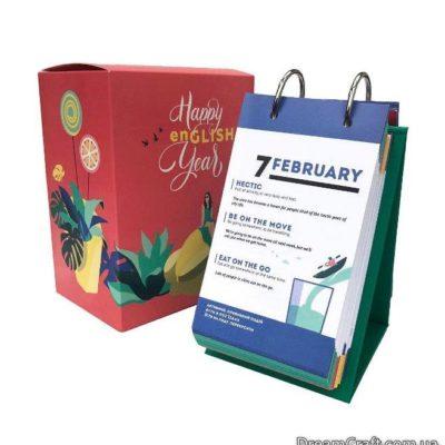 Англійський календар Happy English Year на кільцях