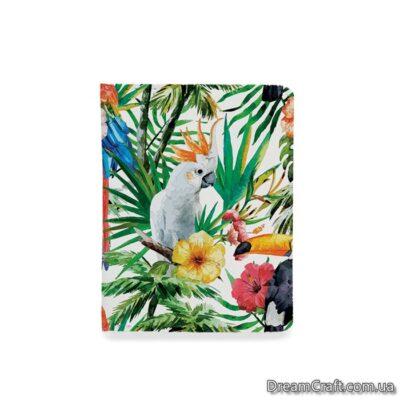 Обложка на документы — Тропические птицы