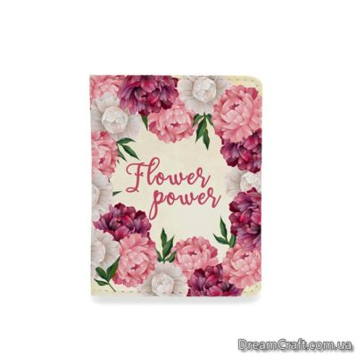 Обложка на документы — Цветы FlowerPower
