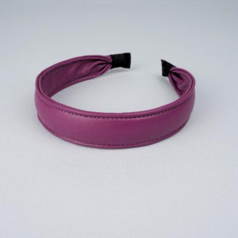 Обручи для волос эко-кожа фиолетовый 28мм