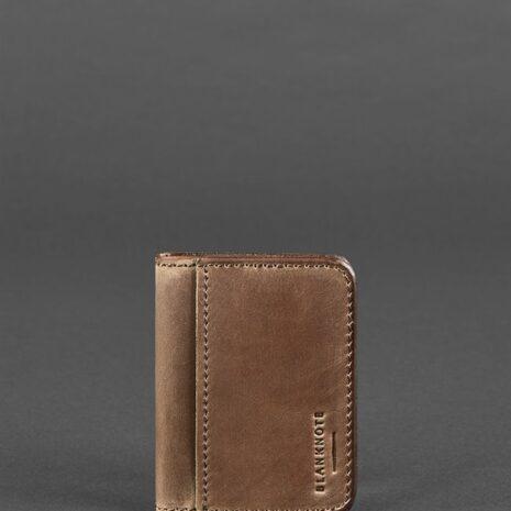 Кожаная обложка для ID-паспорта и водительских прав 4.0 темно-коричневая