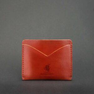 Кожаный кард кейс-слим 5.0 светло-коричневая