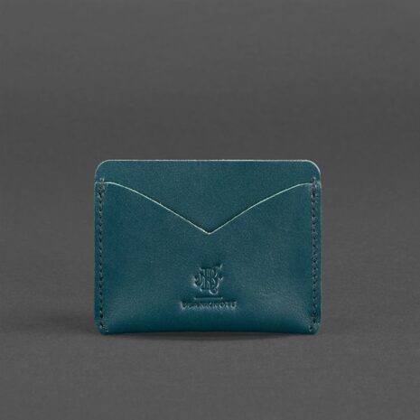 Кожаный кард кейс-слим 5.0 зеленая