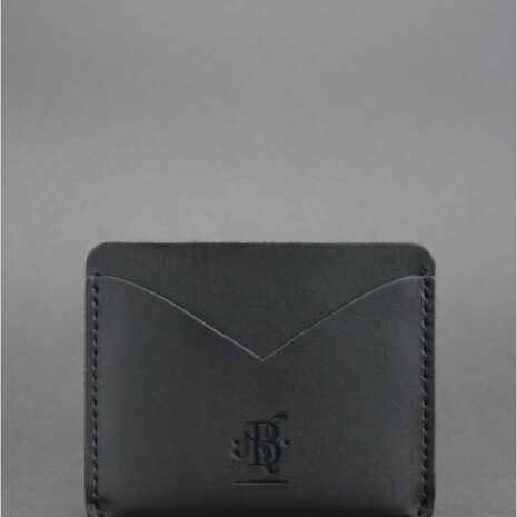 Кожаный кард кейс-слим 5.0 черная