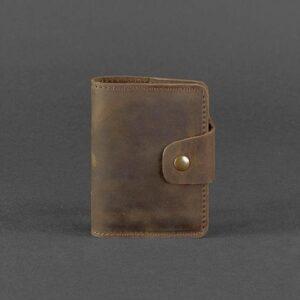 Кожаный кард-кейс 7.1 (Книжечка) коричневый