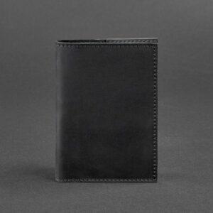 Кожаная обложка для паспорта 1.0 черная