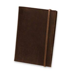 Кожаная обложка для паспорта 1.0 коричневая
