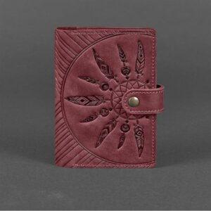 Кожаная обложка для паспорта 3.0 Инди бордовая