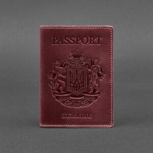 Кожаная обложка для паспорта 3.0 темно-коричневая